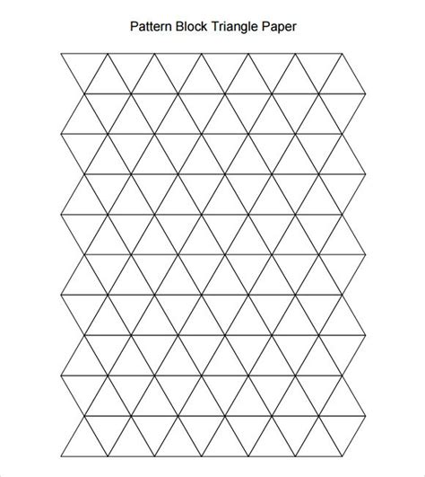 triangle pattern algebra pattern block triangle paper math 1st pinterest