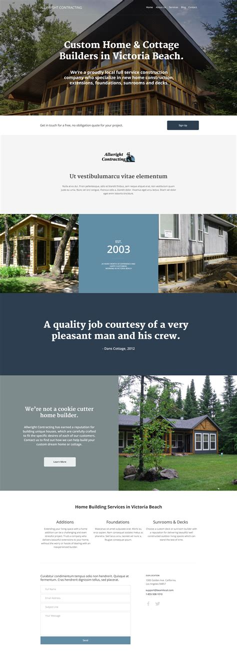 best home builder website design are these the 10 best contractor website designs for 2016