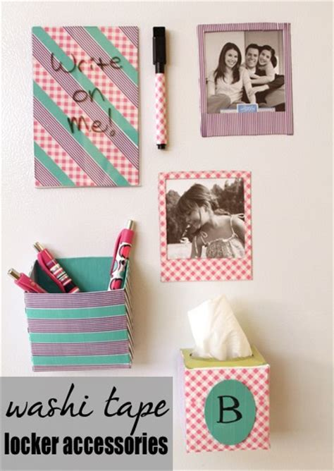 how to make locker decorations at home tutorial washi tape locker accessories 187 dollar store crafts
