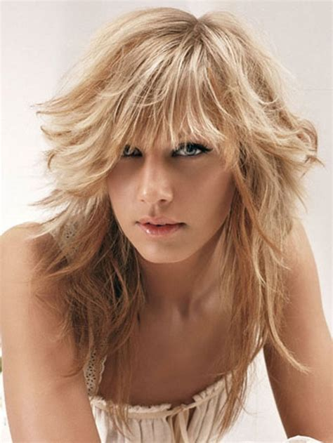 haircuts with bangs and choppy layers layered long hairstyles with bangs ideas trends hairstyles