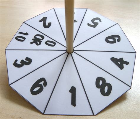 How To Make A Spinning Wheel Out Of Paper - ten sided number wheels craft n home
