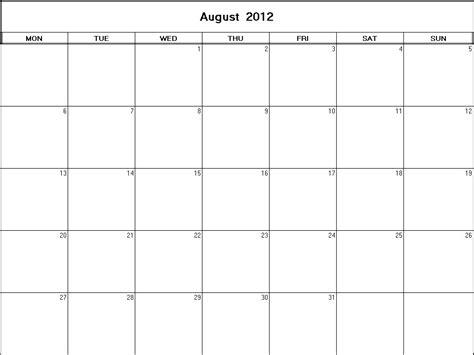 august 2012 calendar template august 2012 printable blank calendar calendarprintables net