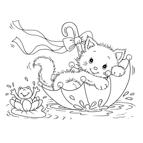 coloring page kitty free printable cat coloring pages for kids