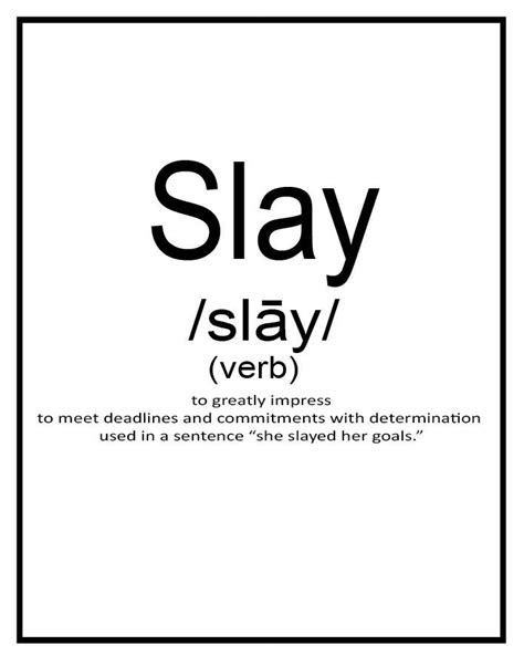how to slay inspiration from the and of black style books slay word of the year free motivational printables
