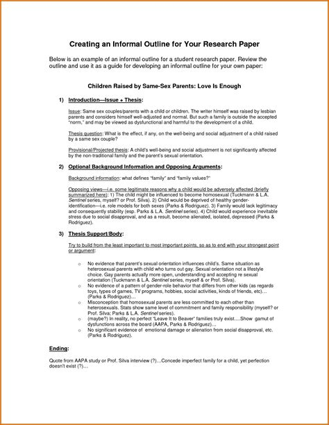 Writing A Formal Outline by Formal Essay Outline Template