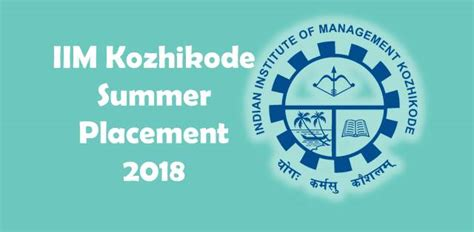 Summer 2018 Internship Mba Ignite Strategic Innovation by Iim Kozhikode Fellow Programme In Mangement 2018 Indian