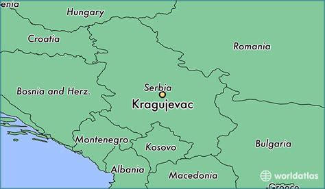 where is serbia on the world map where is kragujevac serbia where is kragujevac serbia