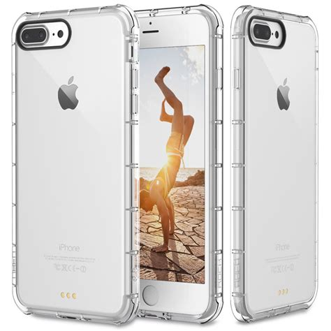 Iphone 7 8 Plus Viseaon Soft Clear Casing Cover Armor Kuat for apple iphone 7 plus clear hybrid slim shockproof