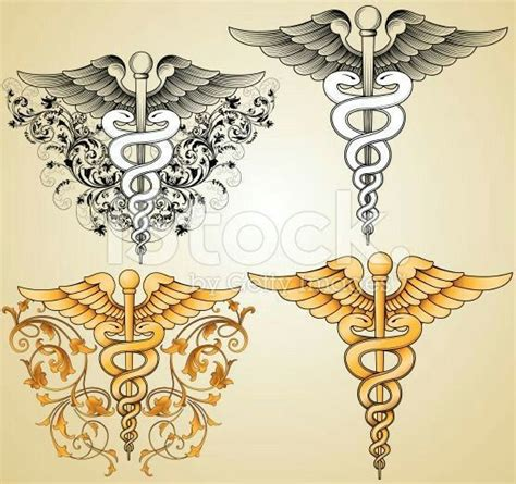 medical symbol tattoo designs 76 best caduceus images on alchemy caduceus