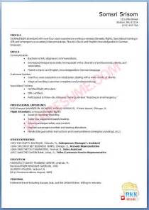 Flight Attendant Resume Exle by Pin Flight Attendant Resume On