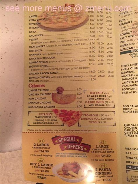 section 5 pizza online menu of section 5 pizza restaurant bronx new york