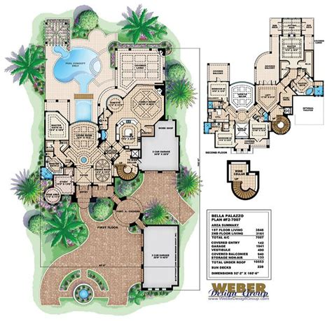 palazzo floor plan tuscan floor plan bella palazzo floor plan 5 bed 5 1 2 bath 5 car 7007 sq ft home