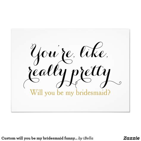 Wedding Quotes Bridesmaid by Must Custom Will You Be My Bridesmaid