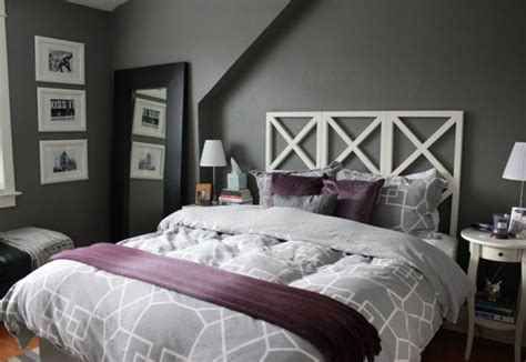 Grey Master Bedroom Decorating Ideas by Gray And Purple Decorating Ideas Purple Gray Master