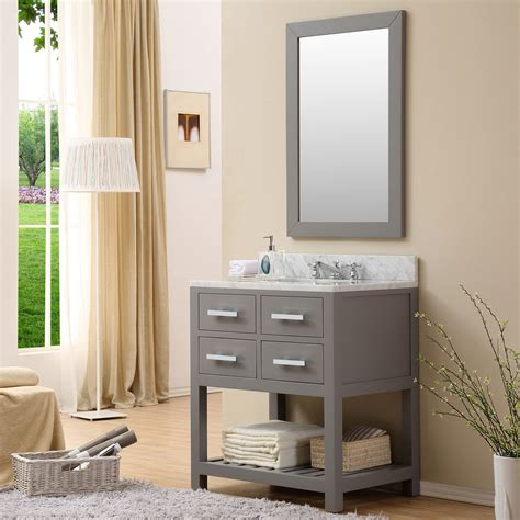 30 single sink bathroom vanity cadale 30 inch gray finish traditional single sink