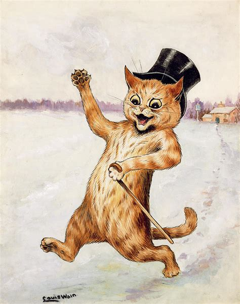 Top Cat Painting by Louis Wain