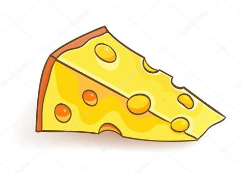 imagenes animadas queso rebanada de queso de dibujos animados sobre blanco