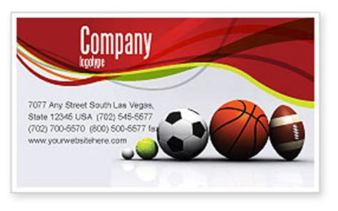 free sports themed business card templates sport balls business card template layout sport