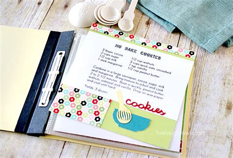 Handmade Cookbook - family craft diy cookbook live laugh rowe