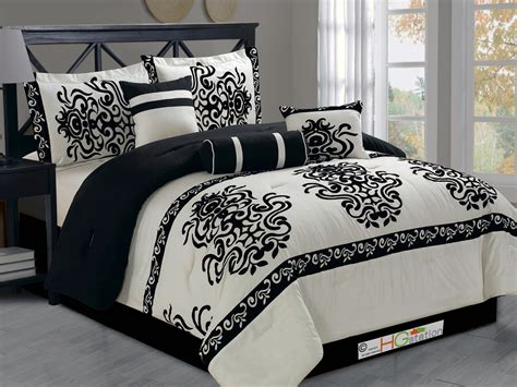 black damask bedding 617237884497 jpg
