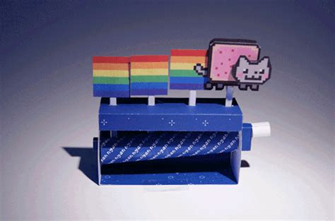 Papercraft Machine - nyan cat papercraft machine neatorama