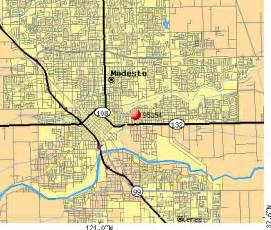 modesto california map zip code map modesto ca zip code map