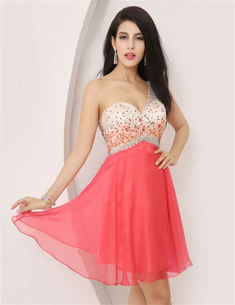 Popular coral homecoming dresses buy cheap coral homecoming dresses