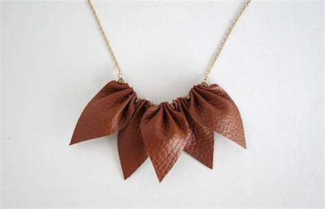 Handmade Leather Necklaces - how to make a leather necklace diy necklace diy ready