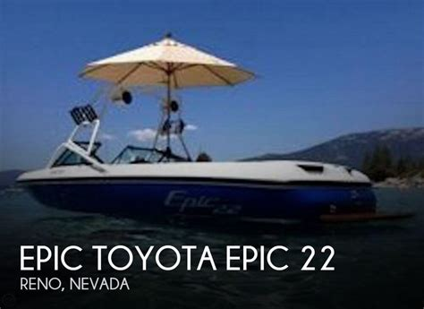 used epic for sale for sale used 1999 epic toyota 22 in reno nevada boats