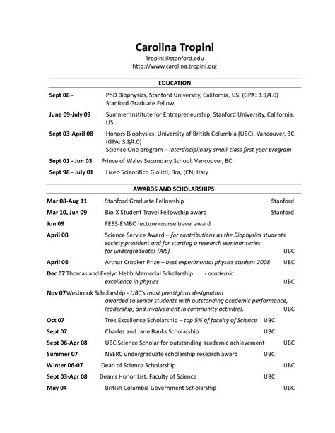 Best Resume Header by Resume Heading Order