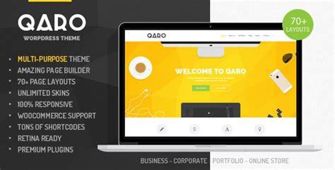 theme wordpress qaro plantillas wordpress qaro responsive multi purpose wp
