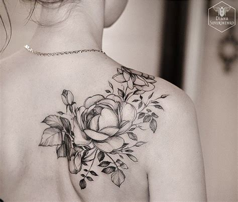 white and black rose tattoos 40 eye catching tattoos nenuno creative