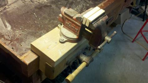 mounting a woodworking vise duty bench vise by pabull lumberjocks