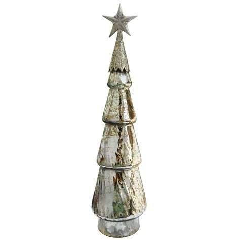 jaclyn smith mercury glass tree with star seasonal