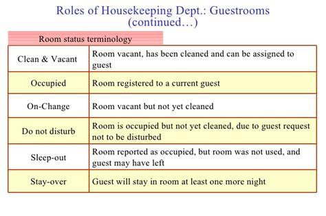 housekeeping room status housekeeping week 2011