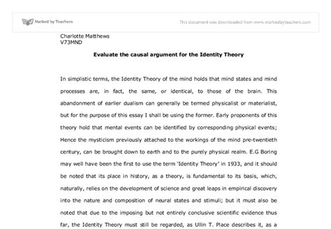 Causal Essay by Causal Argument Essay
