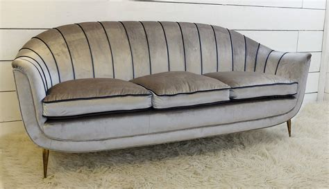 italian loveseat italian sofa newly upholstered c 1950 sofa