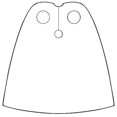 blank coloring superhero cape template coloring pages