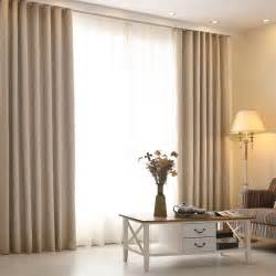 Livingroom Drapes High Grade Modern Living Room Curtains Solid Color Linen