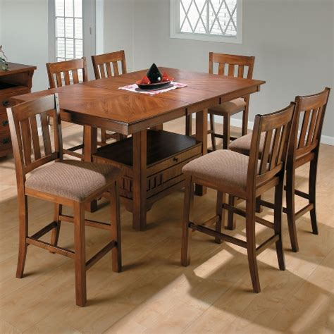 counter height rectangular table sets jofran saddle brown 7 rectangular counter height