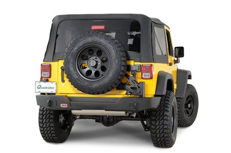 jeep rear bumper with tire modular rear bumper with swing away tire carrier for 07 15