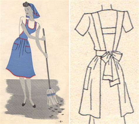 free pattern utility apron free patterns for 1930 s and 1940 s crafts va voom