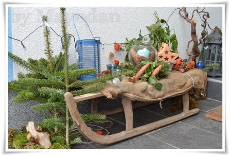 Weihnachtsdekoration Schlitten by Winter Bei Meinen Eltern Mayodans Home Garden Crafts