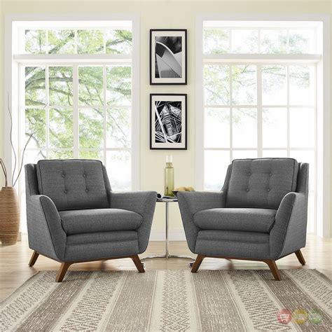 tufted living room set mid century modern beguile 2pc button tufted fabric living