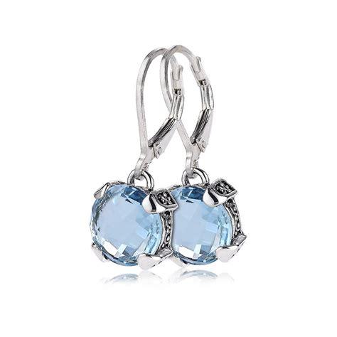 Sterling Silver Earring blue topaz earrings in sterling silver