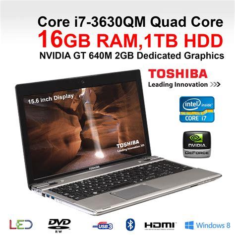 toshiba p855 34p gaming laptop i7 3630qm 16gb ram 1tb 15 6 quot win 8 ebay