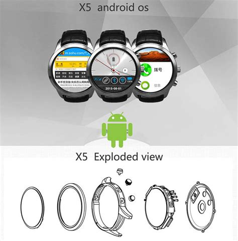 Smartwatch Finow X5 finow x5 3g smart phone android 4 4 mtk6572 rate monitor
