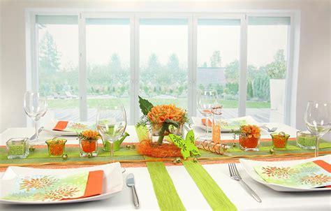 tischdeko orange tischdeko orange gr 252 n feier tischdekorationen