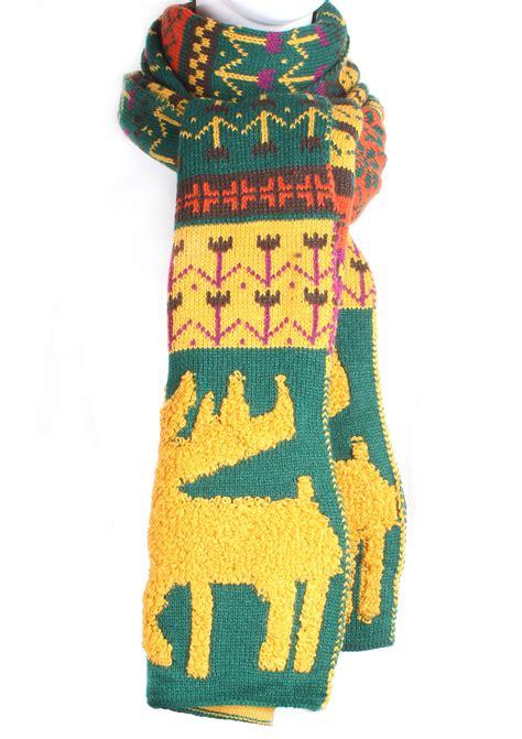 knitting pattern nordic scarf knit reindeer nordic pattern scarf scarves