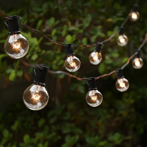 25ft Globe String Lights With 25 G40 Bulbs Vintage Patio Big Bulb Patio String Lights